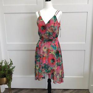BB DAKOTA floral wrap dress - NEW only size 4 left